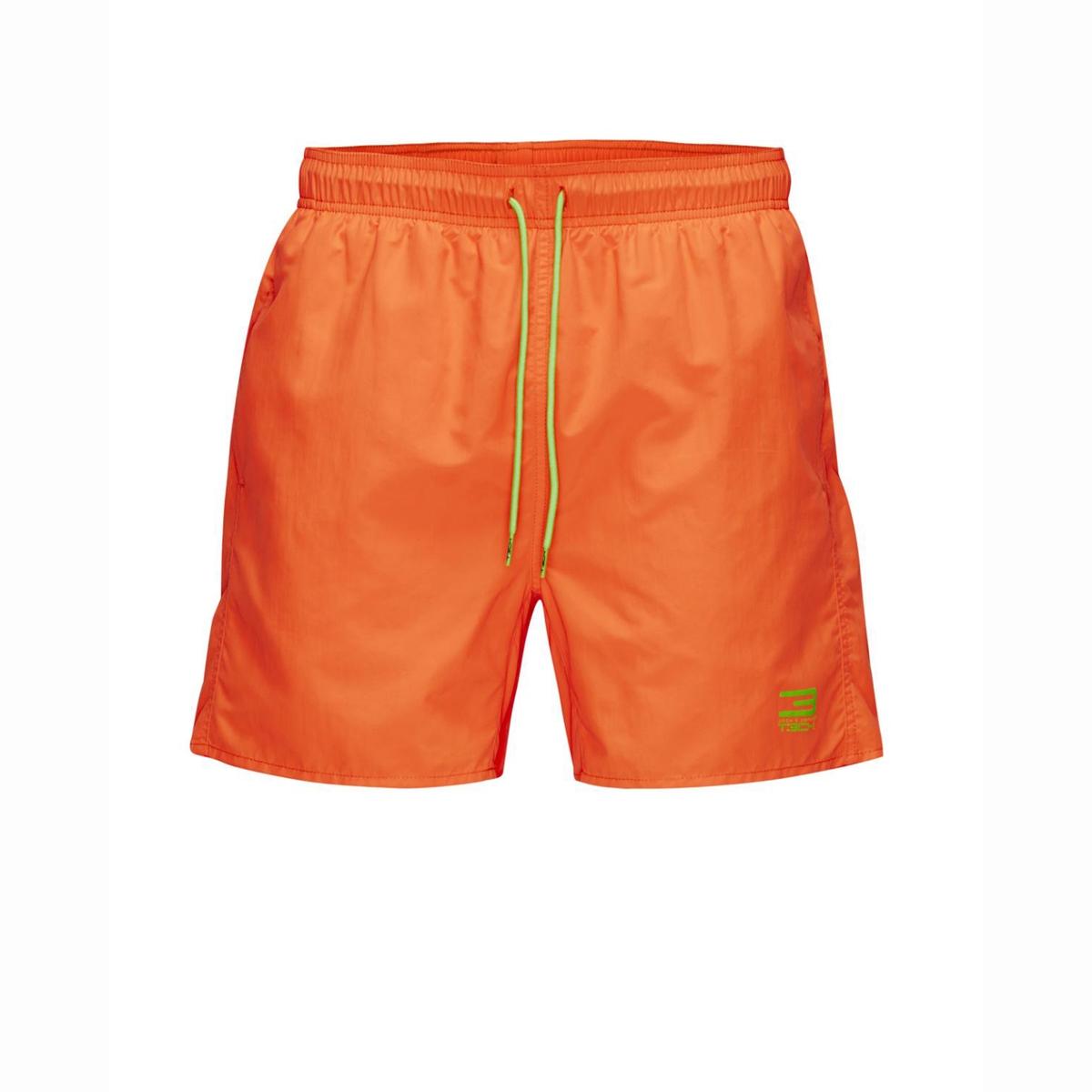Шорты пляжныеСостав и описаниеМатериал: 100% полиамида, нейлона.Марка: JACK &amp; JONES TECH.<br><br>Цвет: оранжевый<br>Размер: XL