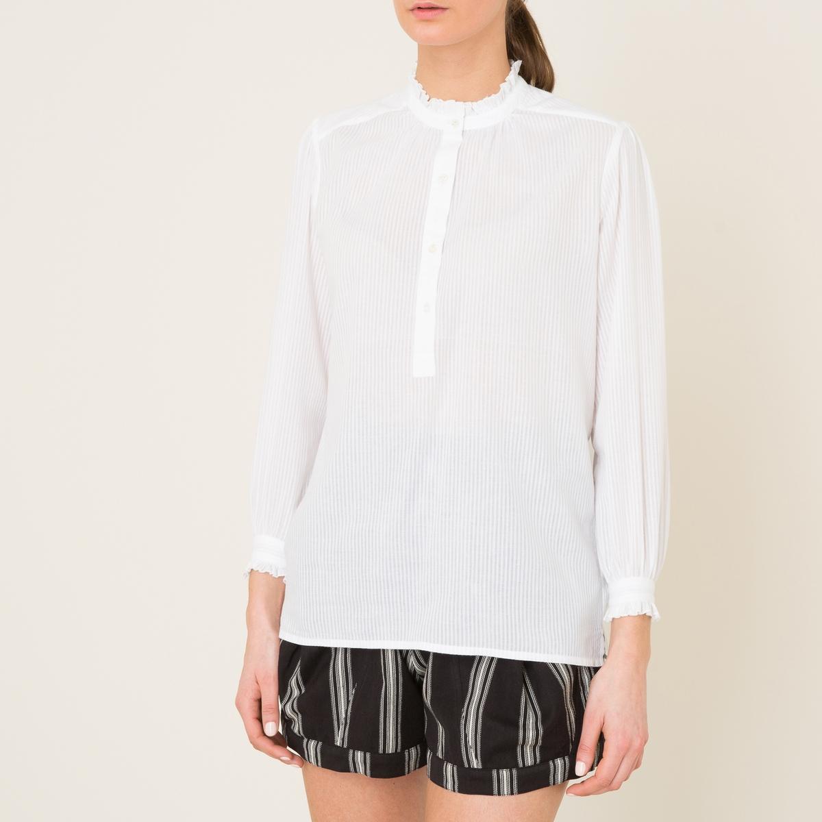 Блузка в полоску BETTYСостав и описаниеМатериал : 100% хлопокМарка : SOEUR<br><br>Цвет: белый