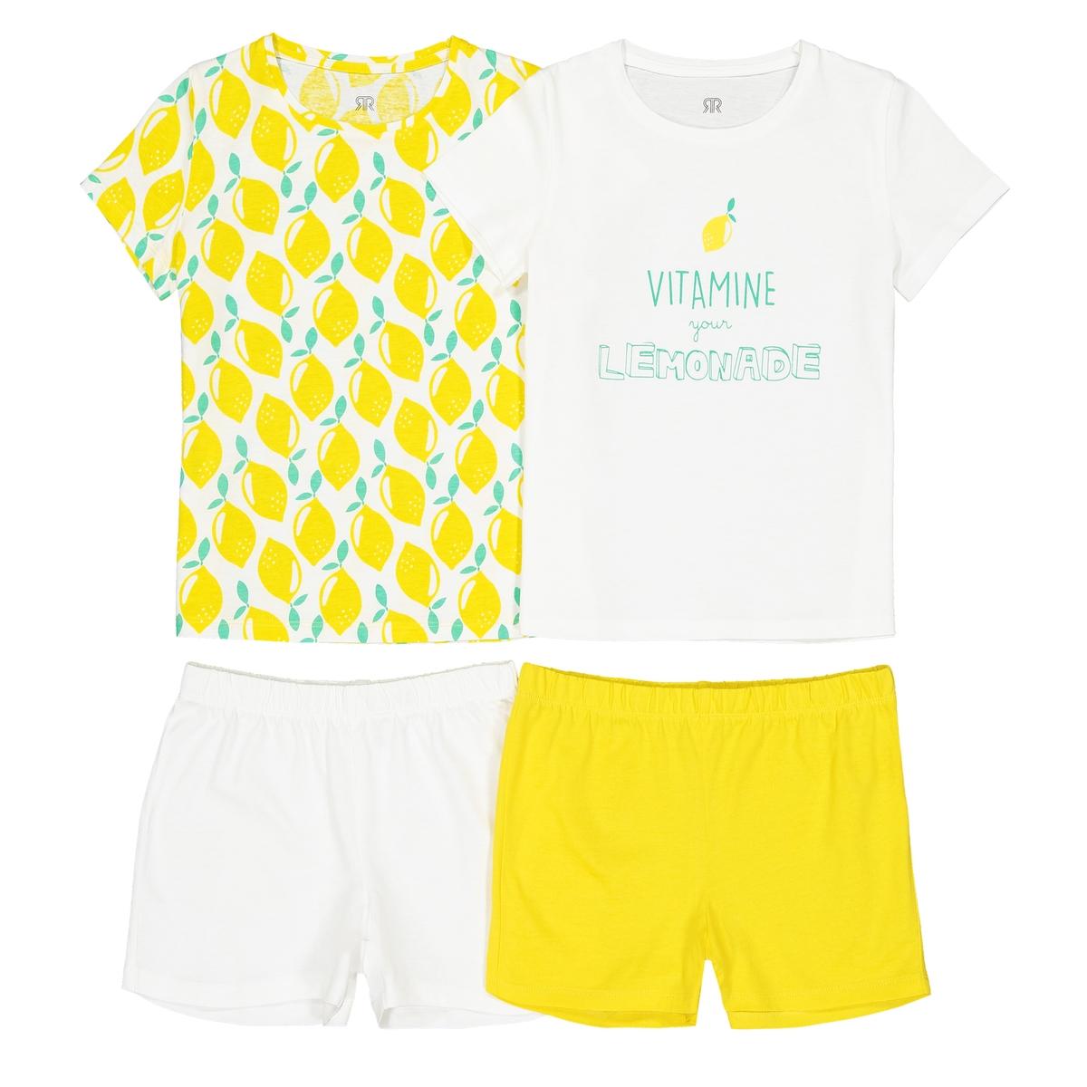 2 пижамы с шортами, 3 -12 лет La Redoute Collections