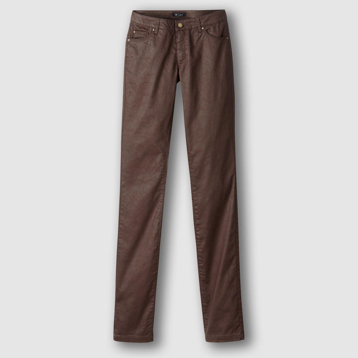 Pantalon droit enduit