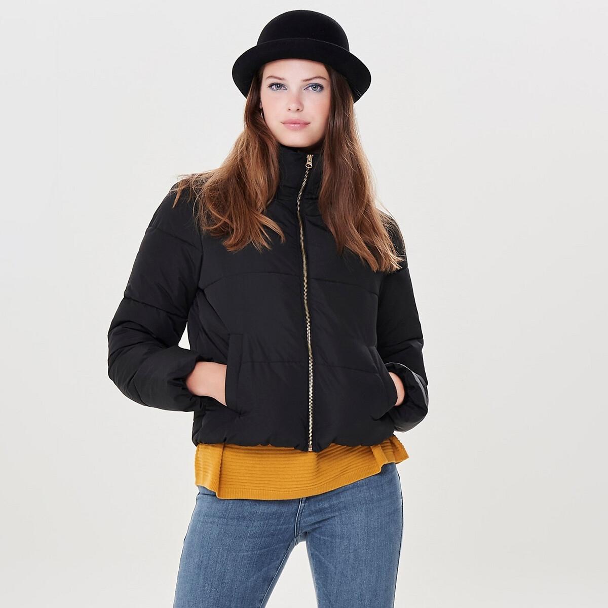 Куртка La Redoute Стеганая с воротником-стойкой на молнии XL черный блузон la redoute с воротником стойкой и застежкой на пуговицы xl синий