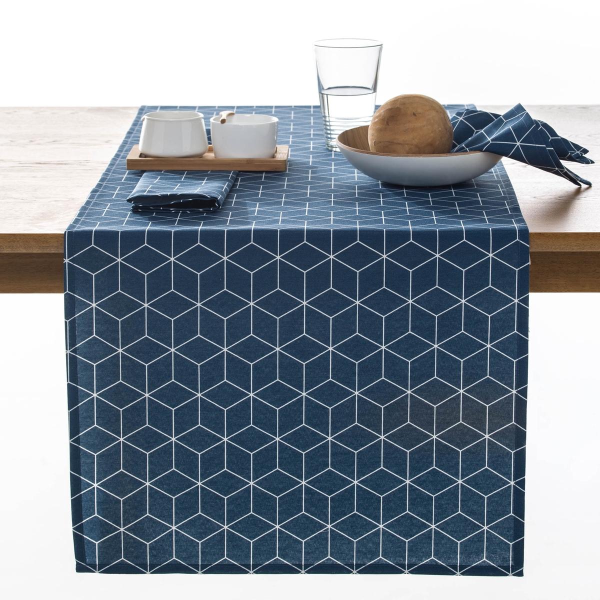 Дорожка La Redoute Столовая DIAMOND 50 x 150 см синий наволочка la redoute flooch 50 x 30 см бежевый