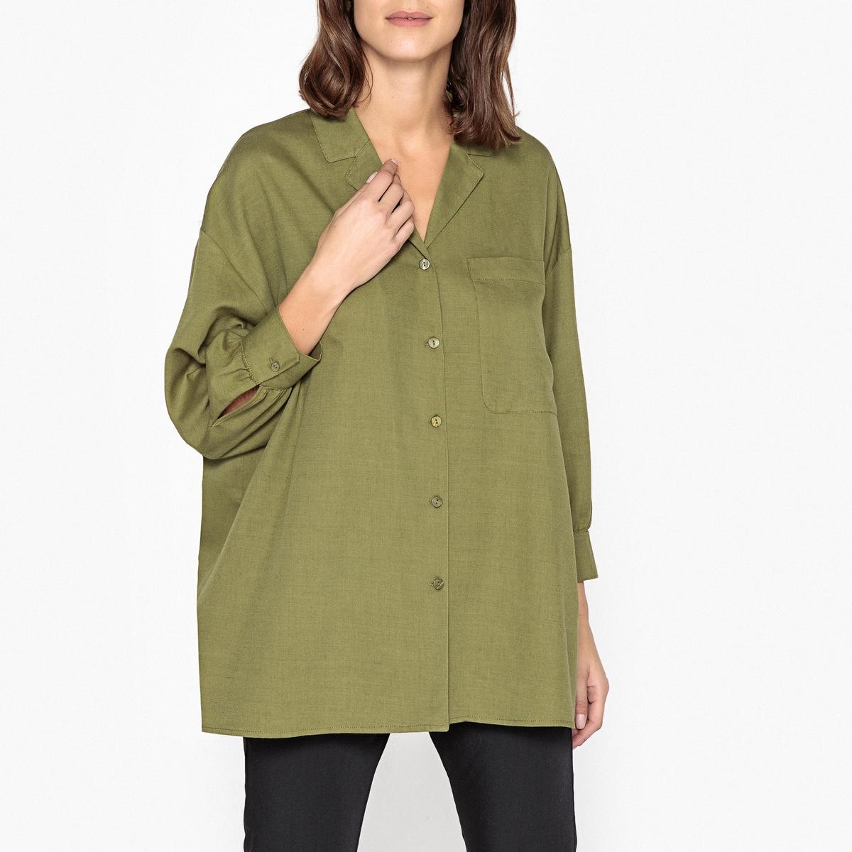 Рубашка однотонная объемного покроя YAYOWOOD йемен весна и осень рубашка женская рубашка шифон круглый воротник рубашки 8510110638 белый xl