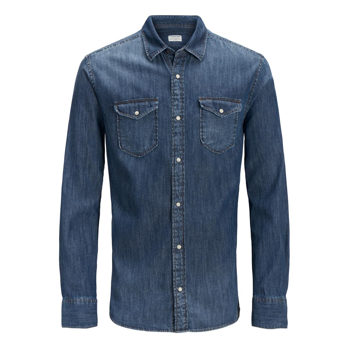 Рубашка прямая с длинными рукавами куртка jack