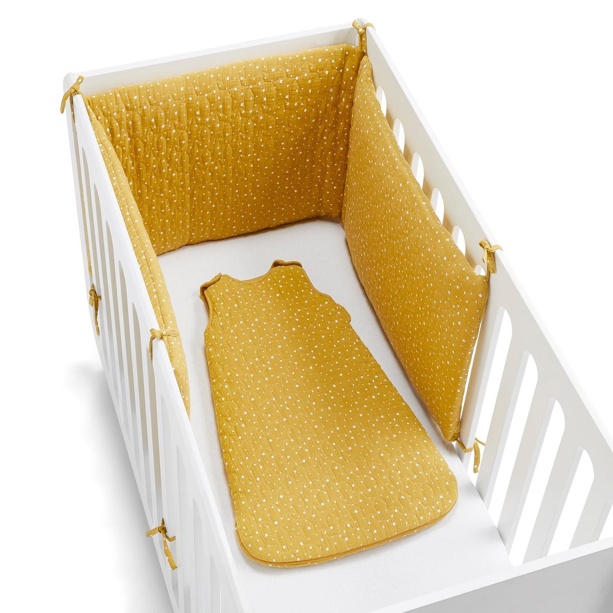 балдахины для кроваток Бортик La Redoute В кроватку с принтом звезды единый размер желтый