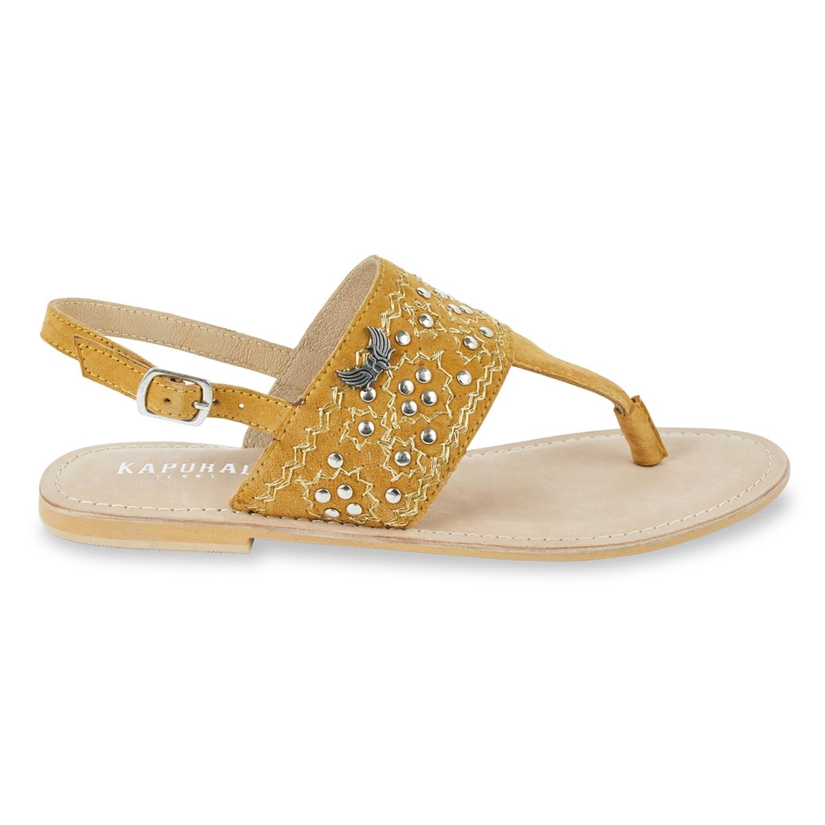 zapatillas Sandalias de piel con tira entre los dedos Most