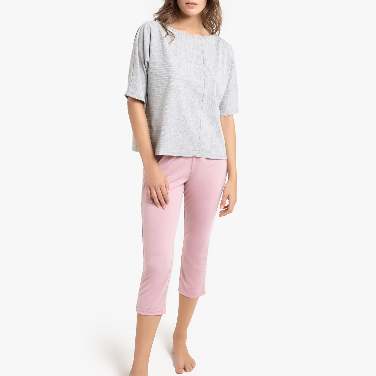 цена Пижама La Redoute С короткими штанами Casual L серый онлайн в 2017 году