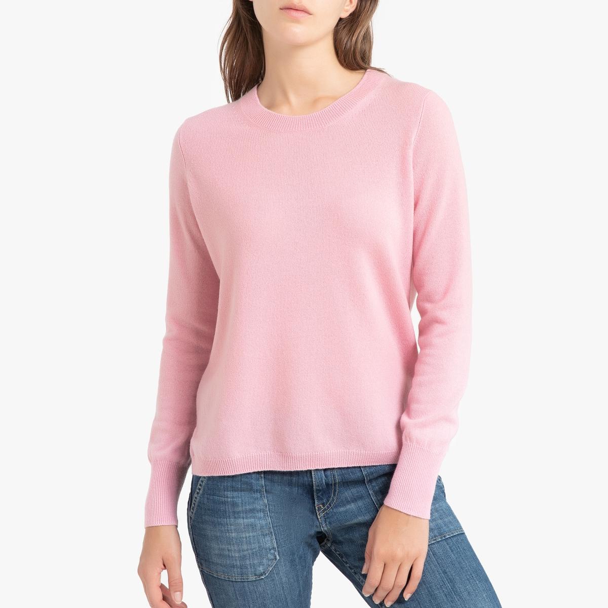 Пуловер La Redoute Кашемировый с круглым вырезом из тонкого трикотажа ROSE 1(S) розовый пуловер с круглым вырезом 3 12 лет