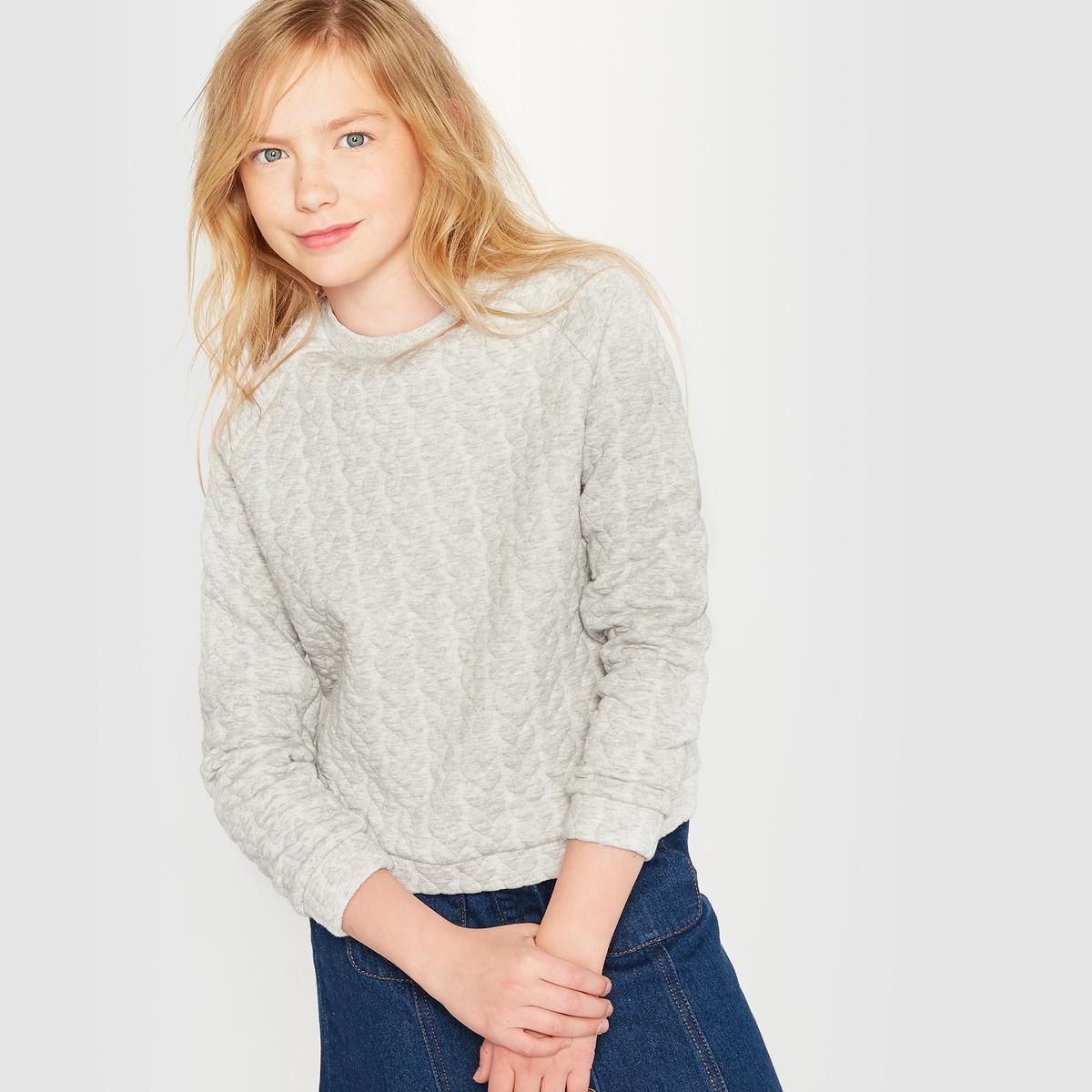 Пуловер из мольтона с узором ''косы',' 10-16 лет от La Redoute Collections
