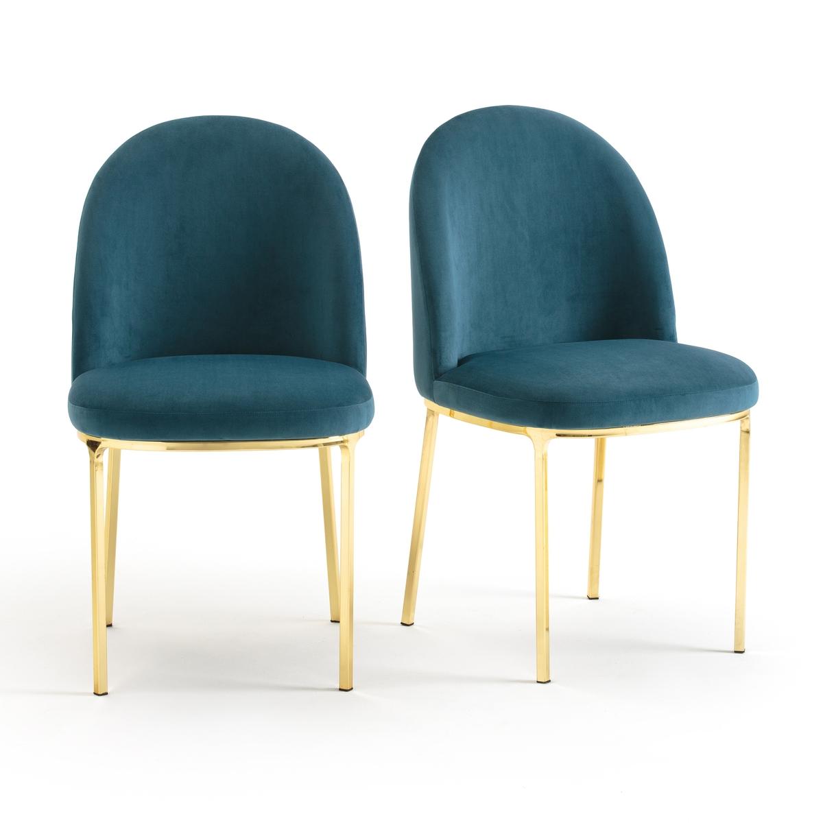 2 стула из велюра винтажных TOPIM2 стула из велюра TOPIM : удобные и эргономичные стулья в винтажном стиле с вышивкой . Характеристики стульев Topim :Каркас и ножки из стали с золотистым покрытием Каркас сиденья из фанеры с ПУ-наполнителем Обивка из велюра 100% полиэстер Другие модели коллекции Topim можно найти на laredoute.ru.Размеры стульев Topim :Ширина : 45 смВысота : 83 смГлубина : 54,5 см СиденьеШирина 45 см.Высота 48 смГлубина 42,5 см  Размеры и вес упаковки :1 упаковкаL 68 x H 103 x P 50 см Вес : 17.70 кг . Доставка :Стулья Topim продаются в собранном виде . Возможна доставка до квартиры по предварительному согласованию! Внимание! Убедитесь, что посылку возможно доставить на дом, учитывая ее габариты<br><br>Цвет: розовая пудра,серый,сине-зеленый