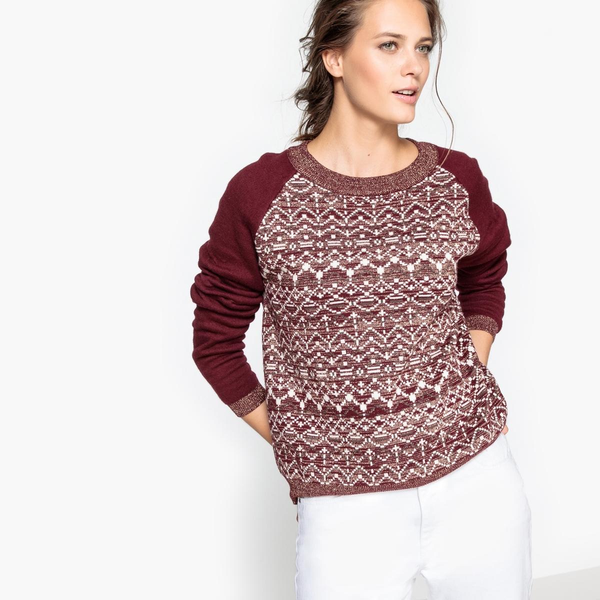 Пуловер с металлизированными нитями в составе