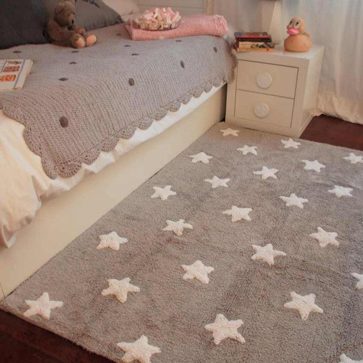 Tapis Enfant : Étoiles Blanches