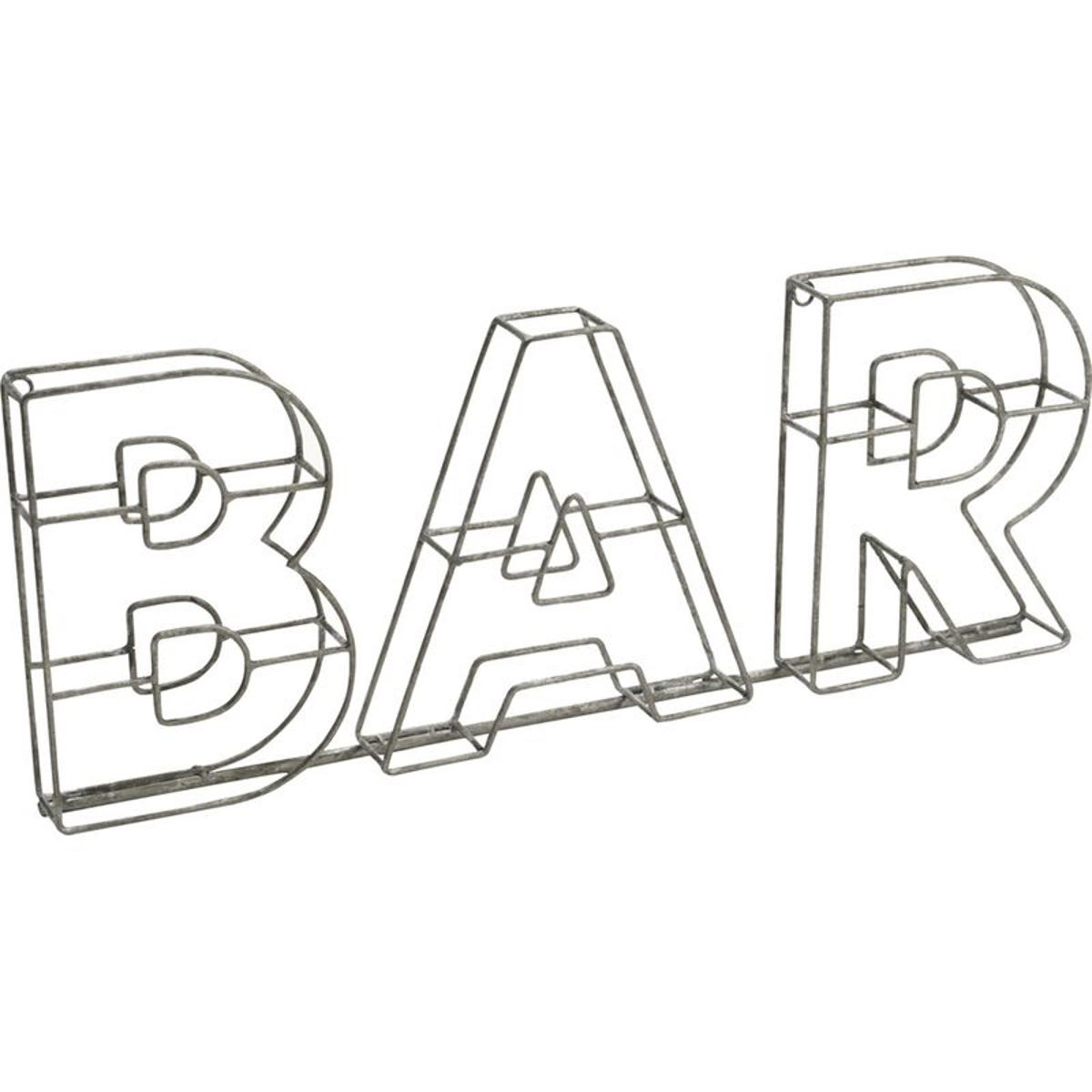 Decor mural métal Bar