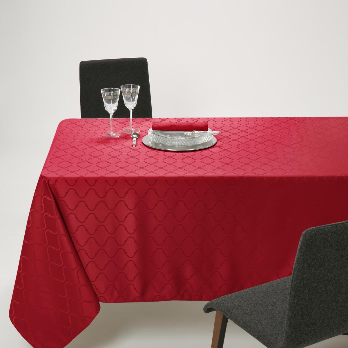 купить Скатерть La Redoute Из жаккардовой ткани с тканым узором SALOM 180 x 180 см красный онлайн