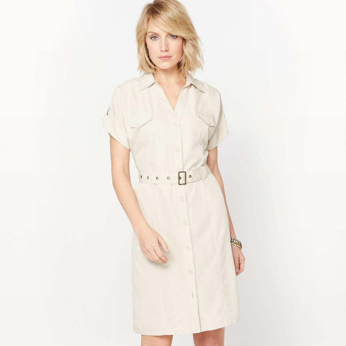 ANNE WEYBURN Платье струящееся из бархатистой микрофибры