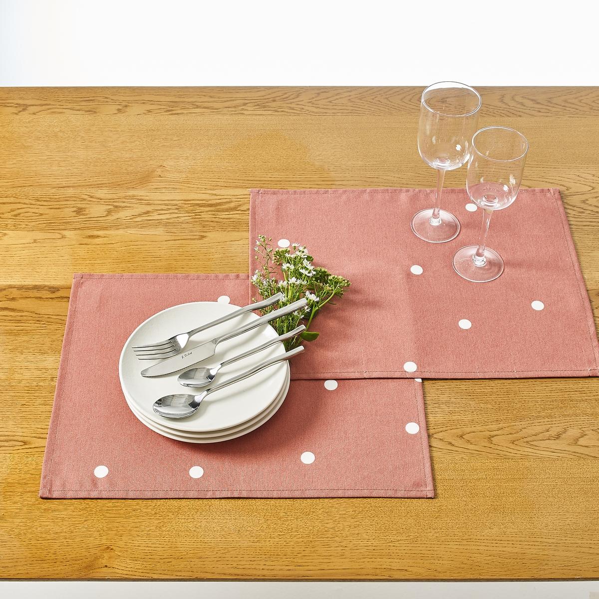 Confezione da 2 set da tavolo spalmato fantasia AURÉLIA
