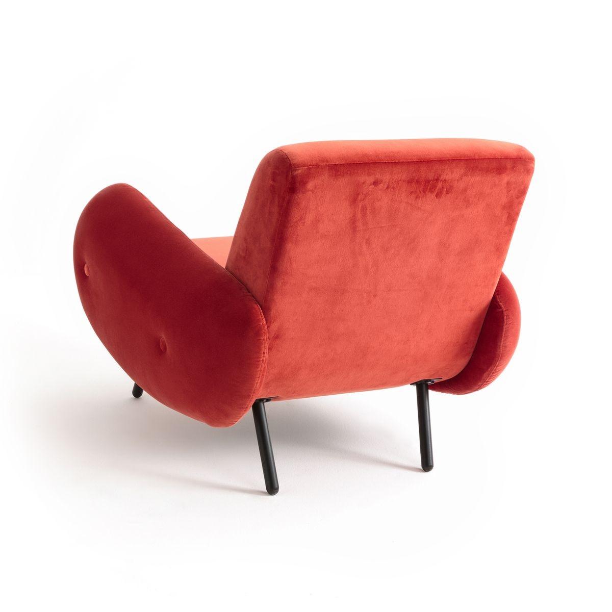 fauteuil velours vintage watford rouille interieurs. Black Bedroom Furniture Sets. Home Design Ideas