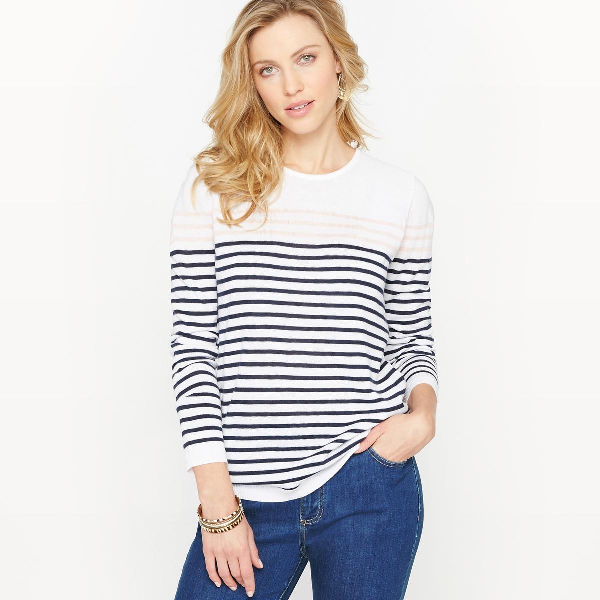 Пуловер в морском стиле