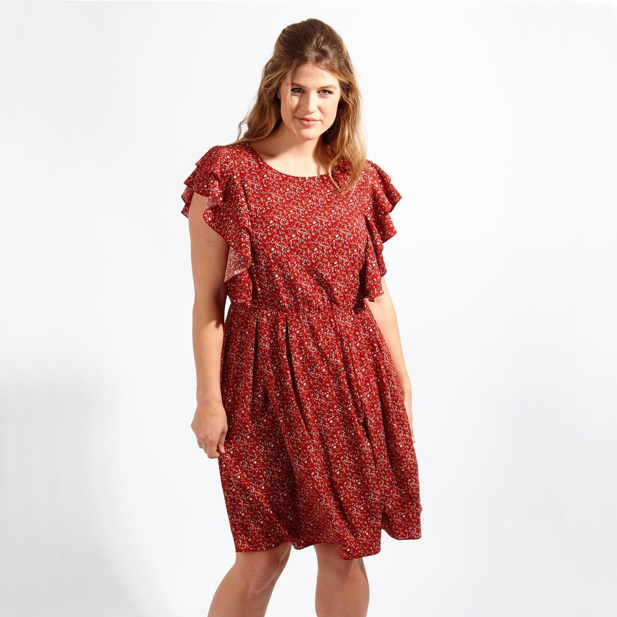 Платье<br><br>Цвет: набивной рисунок<br>Размер: 50/52 (FR) - 56/58 (RUS)