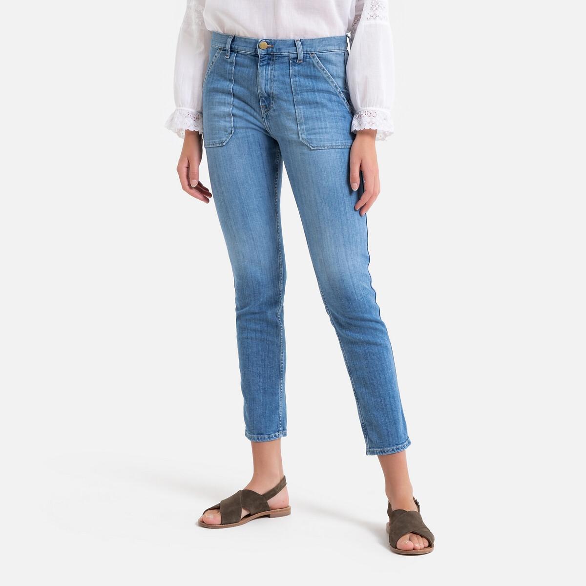 цена Джинсы La Redoute Слим SALLY 1(S) синий онлайн в 2017 году
