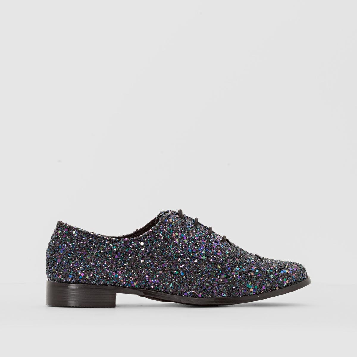 Ботинки дерби с блестками