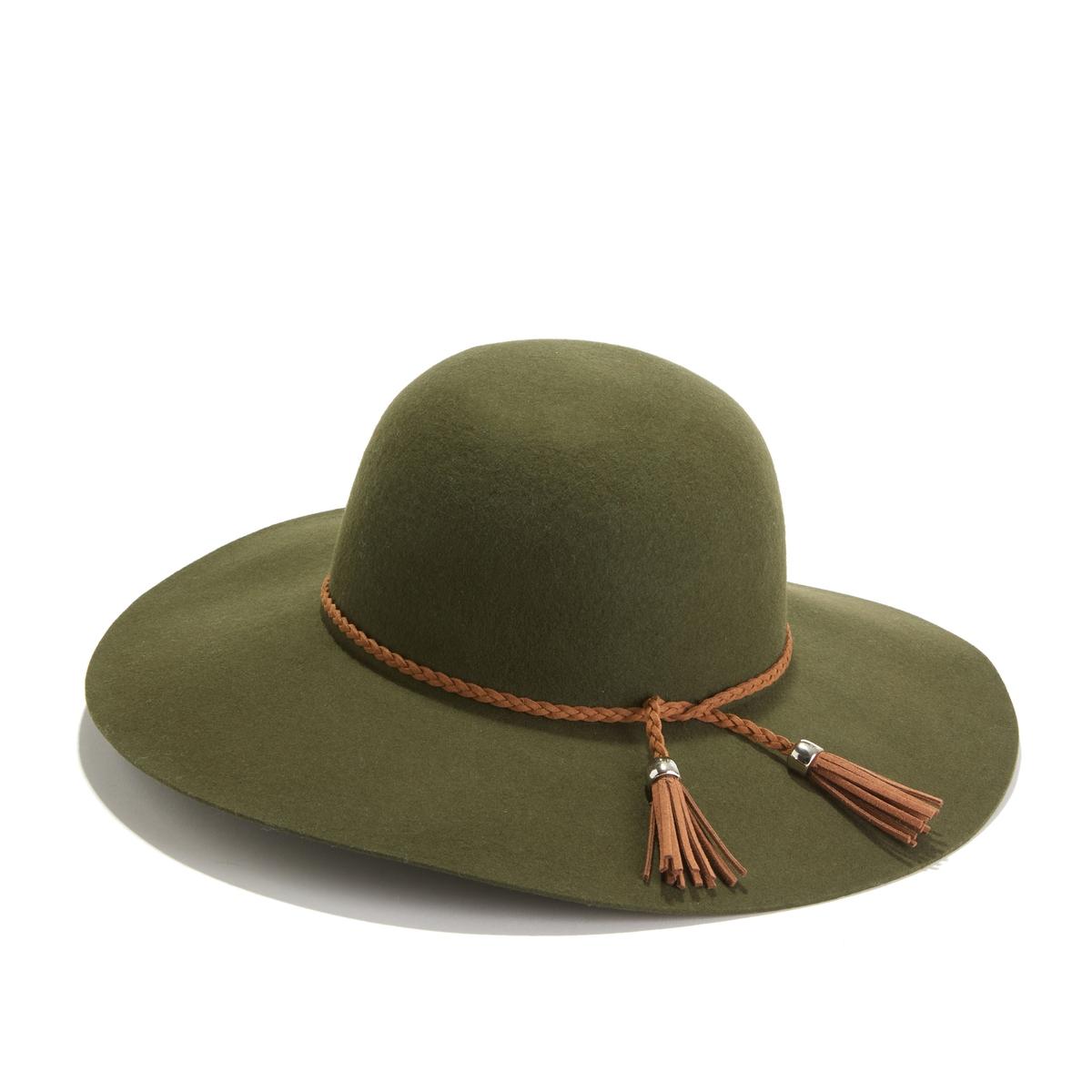Шляпа La Redoute С широкими полами UNI зеленый цена и фото