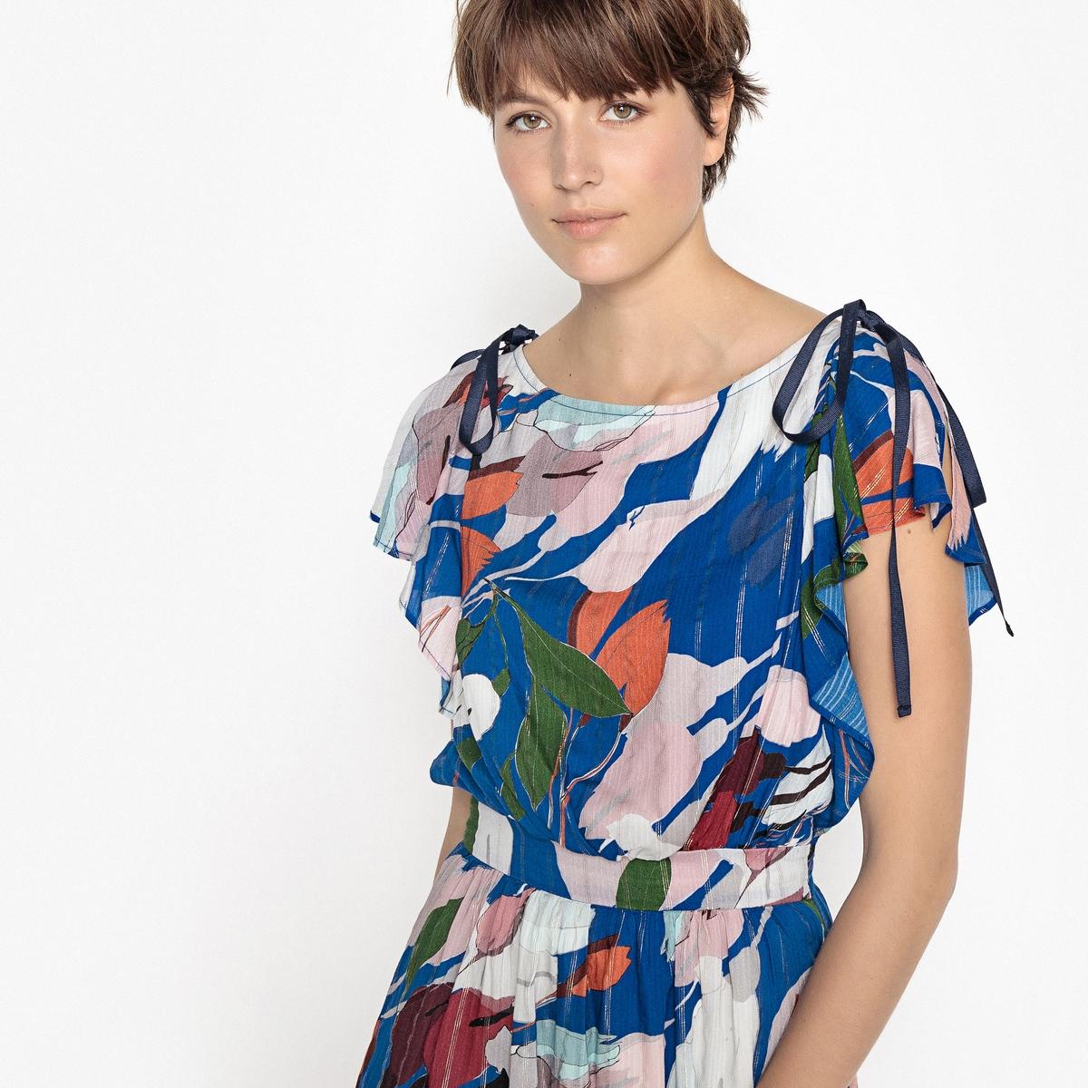 Платье прямое и длинное с цветочным принтом платье длинное из трикотажа с цветочным принтом короткие рукава