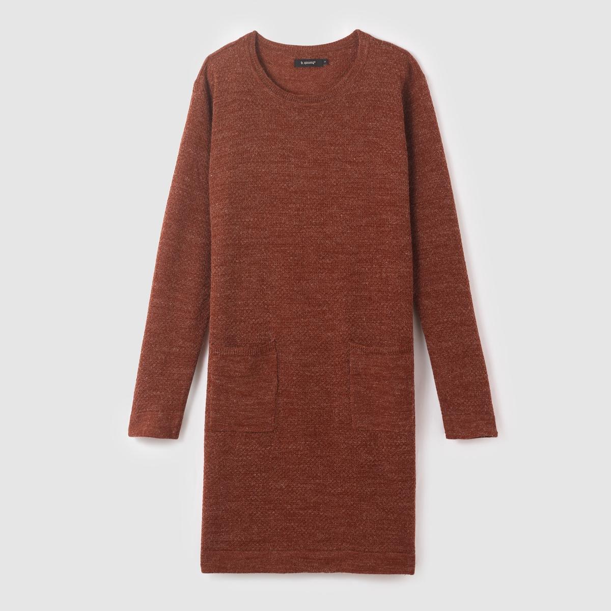 Платье-пуловер длинное OBAS DRESSСостав и описание :Материал : 80% акрила, 20% полиамидаМарка : B.YOUNG<br><br>Цвет: бордовый