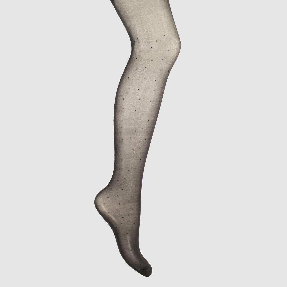Колготки из вуалиКолготки из вуали - Mademoiselle R.  Сплошной набивной рисунок, эффект швов сзади, бант вверху. 93% полиамида, 7% эластана.<br><br>Цвет: черный<br>Размер: 3(L)