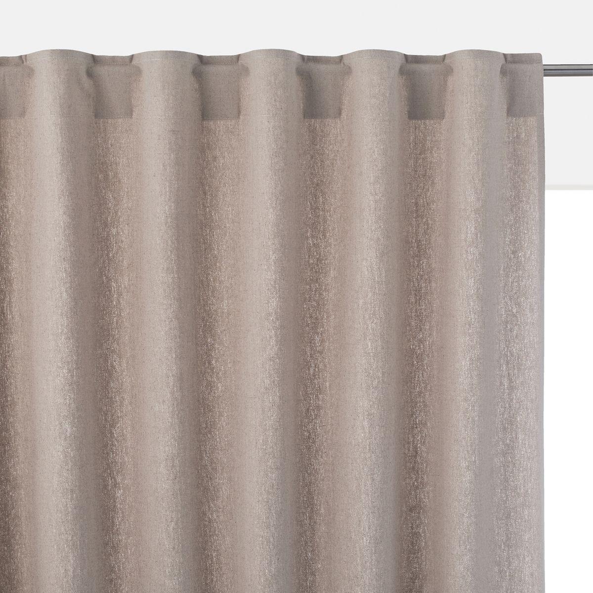 rideau en m tis lin coton pattes cach es ta ma. Black Bedroom Furniture Sets. Home Design Ideas