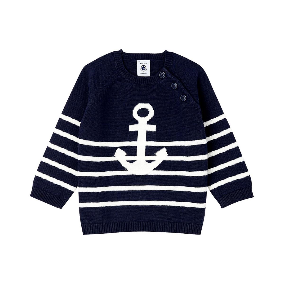 PETIT BATEAU - Petit Bateau Camisola estilo marinheiro, 6 meses-3 anos