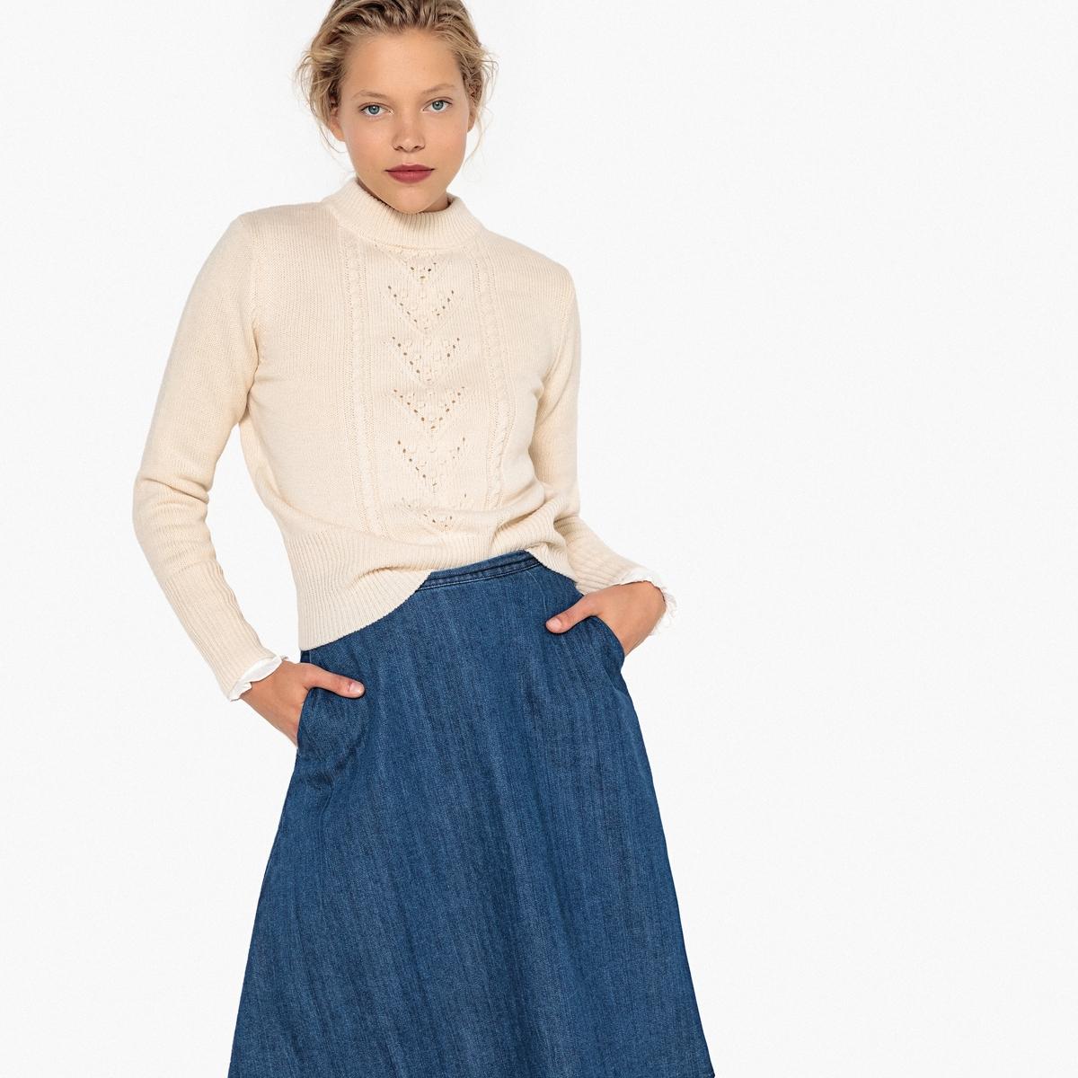 Пуловер с круглым вырезом, из шерсти MADEMOISELLE R