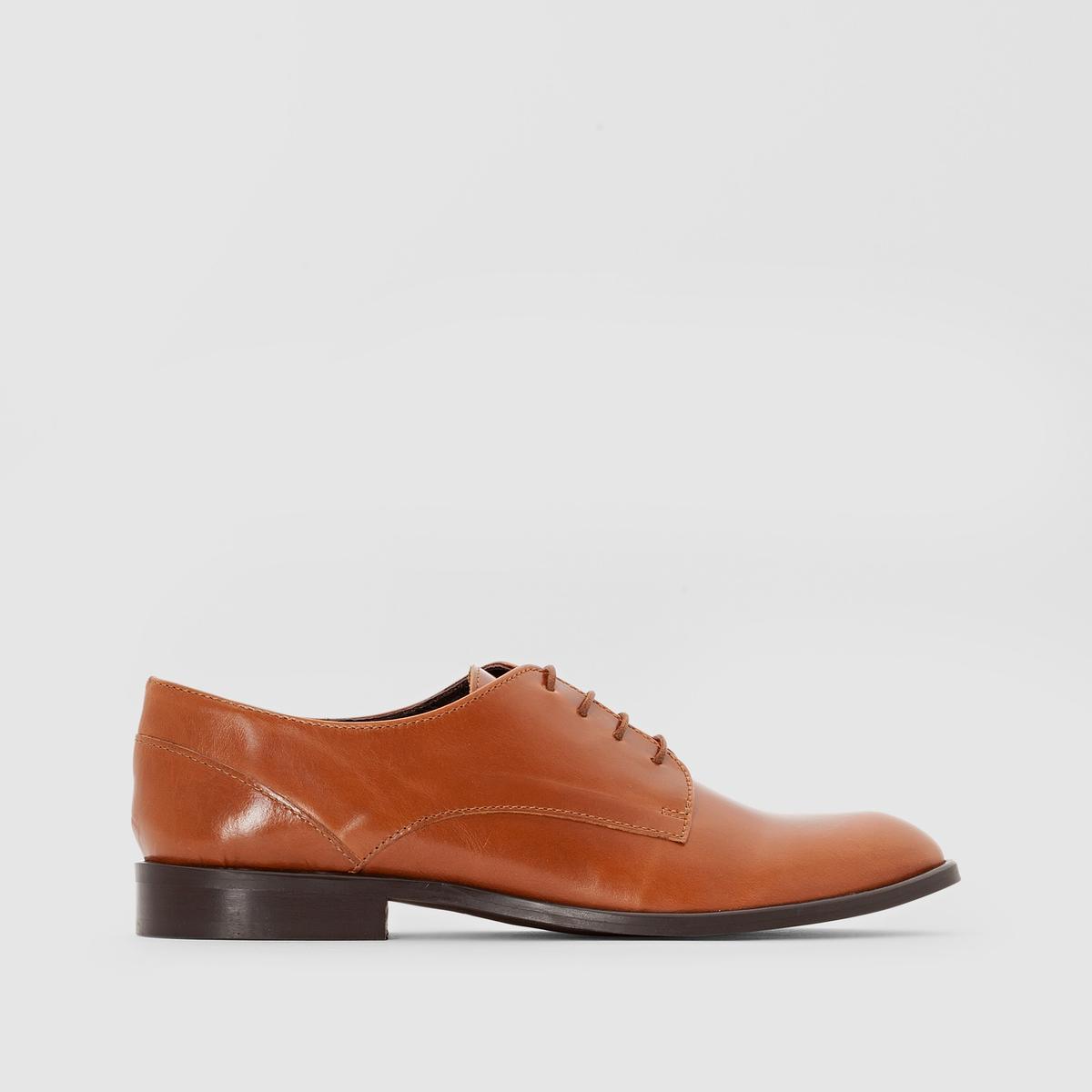 Ботинки-дербиПодкладка : Кожа   Стелька : Кожа   Подошва : ЭластомерВысота каблука : 1 см<br><br>Цвет: каштановый