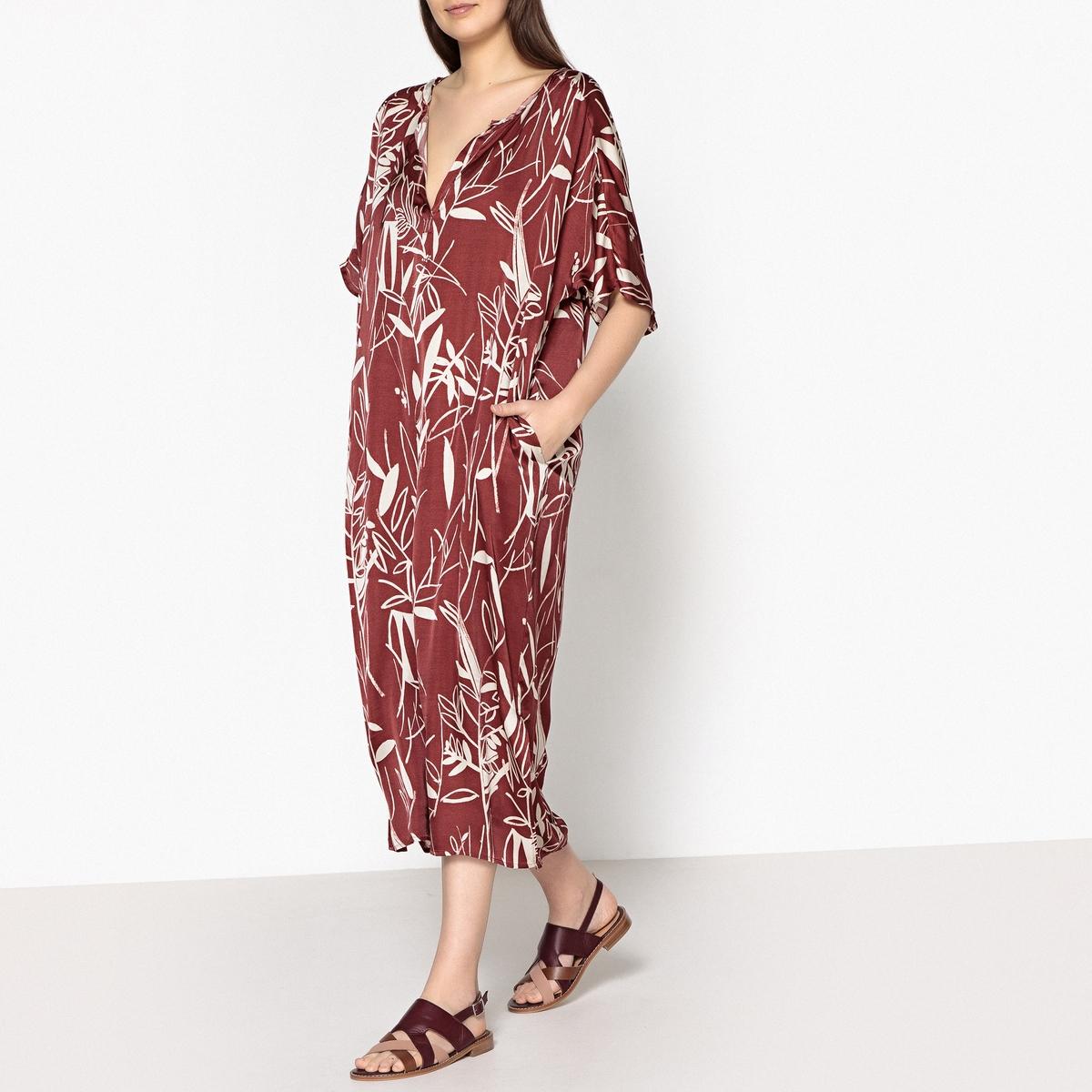 Платье длинное из шелка, тунисский вырез RONA