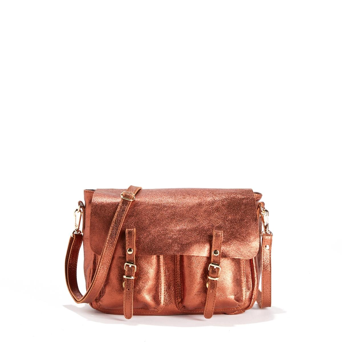Сумка двусторонняя из ткани MINI MATHSДвусторонняя сумка CRAIE  - модель MINI MATHS CUIR с модулируемыми деталями из блестящей кожи, лицевой кожи и ткани.Детали    •  Двусторонняя и модулируемая при помощи кнопок сумка-портфель •  Благодаря съемной ручке, плечевому ремню и кольцу её можно носить в руке, на плече или как рюкзак •  Застежка на 2 кнопки с взаимозаменяемыми пряжками •  Карман с клапаном •  2 небольших кармана на отвороте. •  Размеры 26 x 18 x 8 см: маленькая модельСостав и уход    •  Овечья кожа •  Подкладка из хлопковой ткани  •  Следуйте советам по уходу, указанным на этикетке<br><br>Цвет: медный,черный