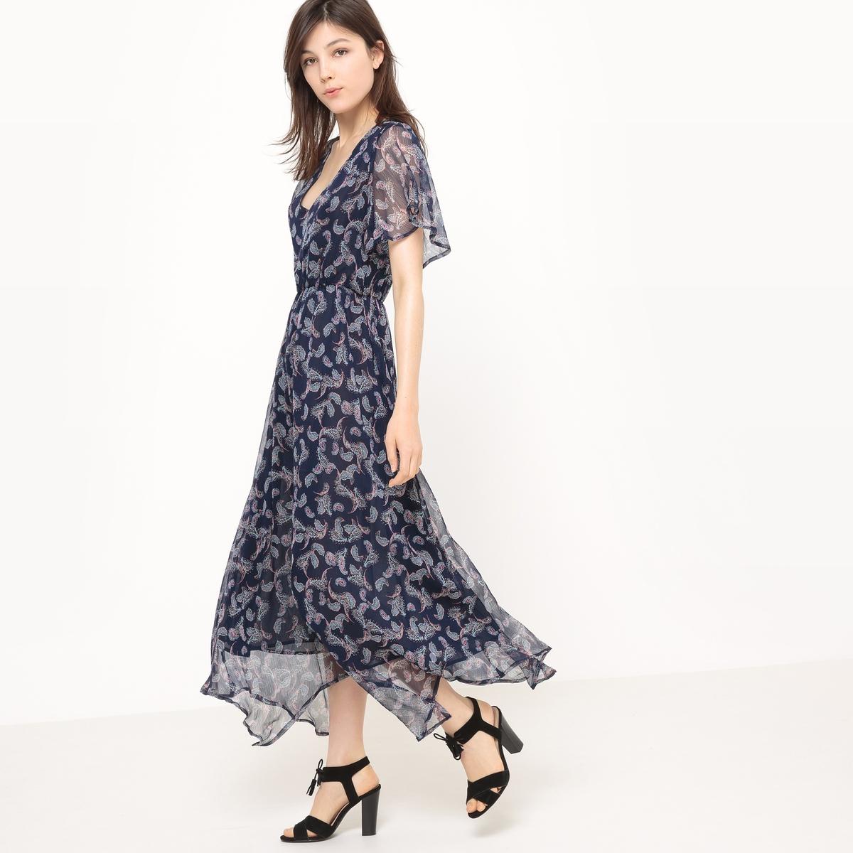 все цены на Платье длинное с рисунком из кашемира онлайн