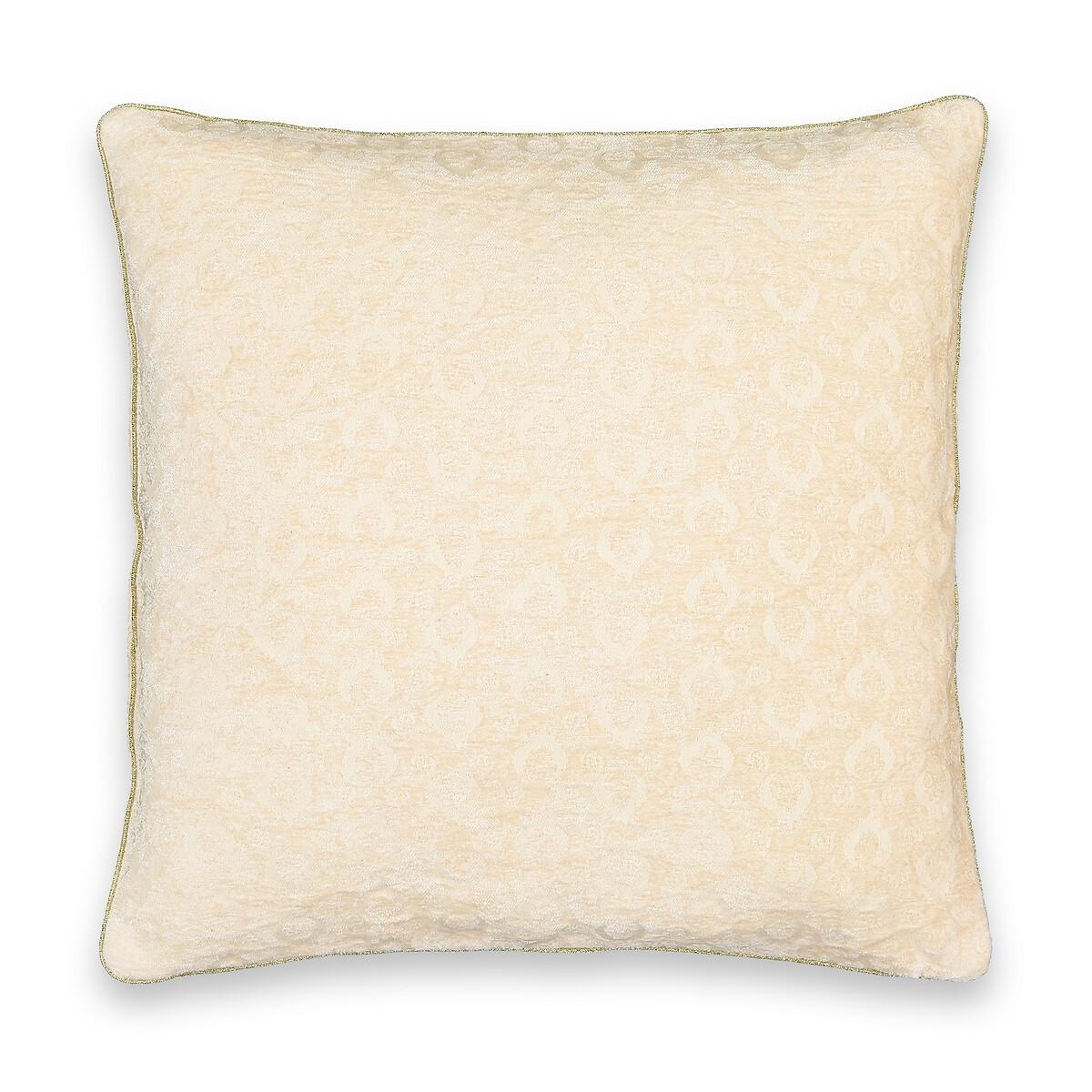 Фото - Чехол LaRedoute На подушку Nour 45 x 45 см бежевый чехол laredoute на подушку валик с отделкой бисером volodia 45 x 45 см зеленый