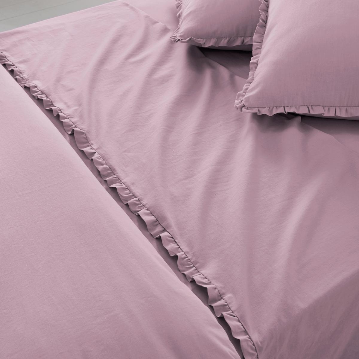 Простыня однотонная из полушерстяной стиранной ткани, OndinaОписание простыни Ondina :- Полушерстяная ткань, 55% хлопка, 45% льна, аутентичная и прочная, стиранная ткань для повышенной нежности и мягкости..Машинная стирка при 60 °С.- Отделка двойным воланом, со складками.  Размеры:180 x 290 см : 1-сп.240 х 290 см : 2-сп.270 x 290 см : 2-сп.<br><br>Цвет: белый,светло-бежевый,серо-фиалковый<br>Размер: 270 x 290  см