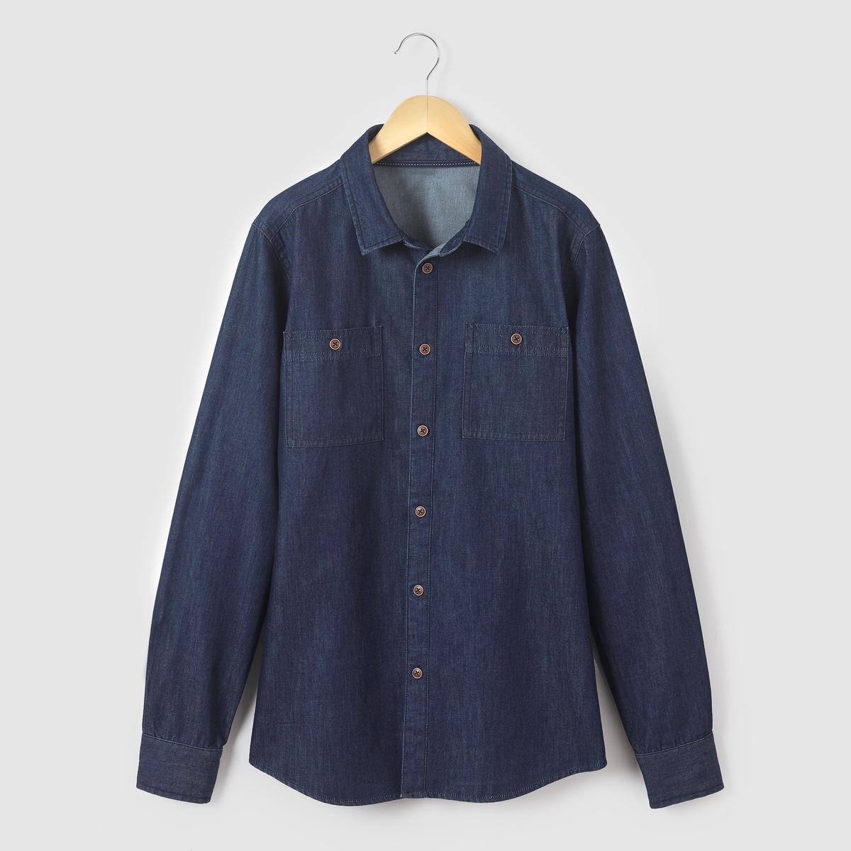 Рубашка из денима, 10-16 лет от La Redoute