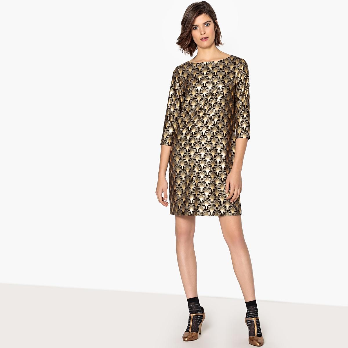 Платье вечернее с золотистым геометрическим рисунком вечернее платье fragrant luner lf30