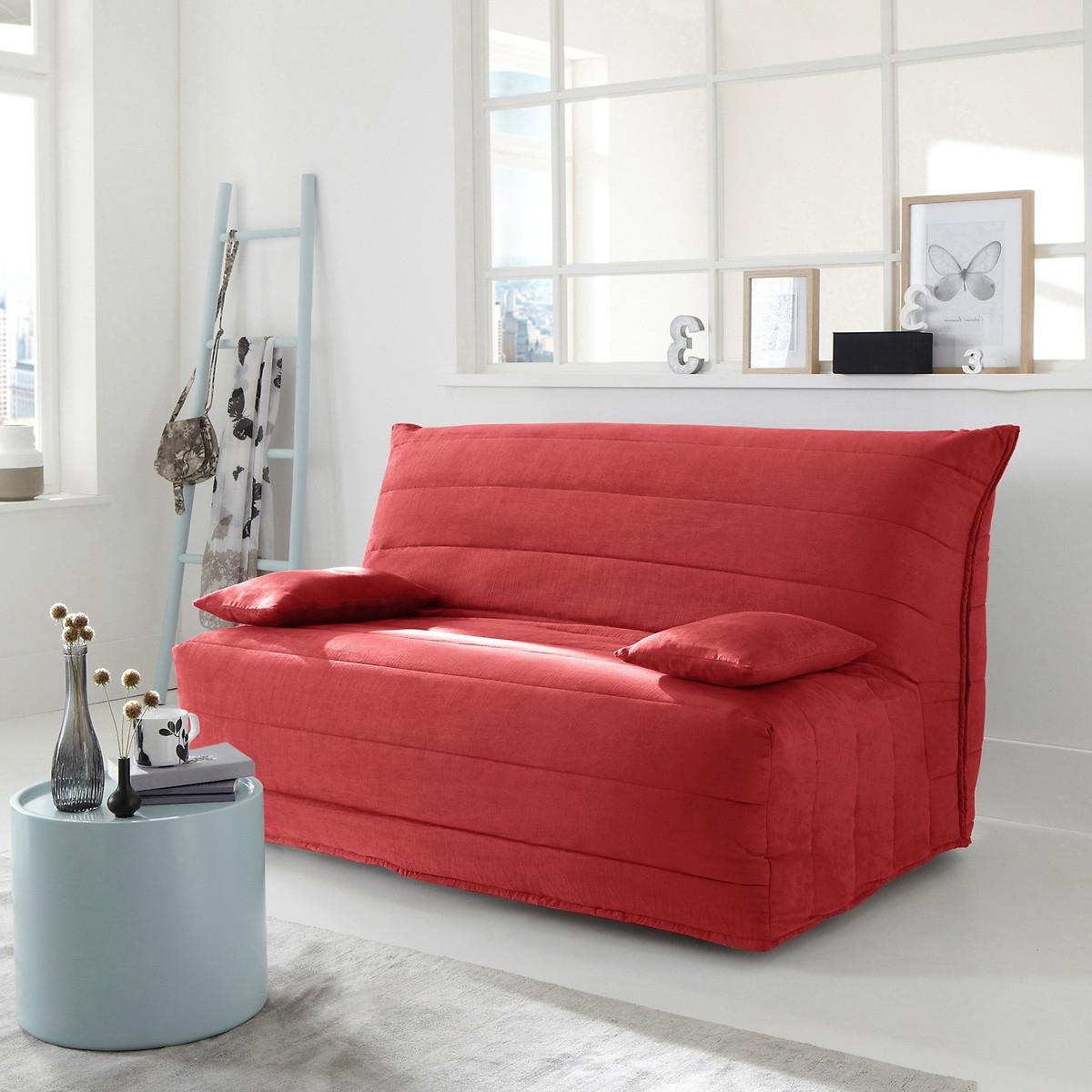 Чехол LaRedoute Для дивана-аккордеона из искусственной замши 140 см красный