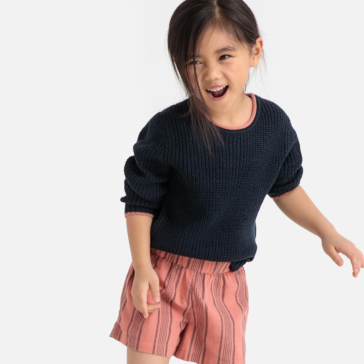 Пуловер La Redoute С круглым вырезом из тонкого трикотажа 12 лет -150 см синий пуловер la redoute с круглым вырезом и надписью из пайеток 12 лет 150 см розовый