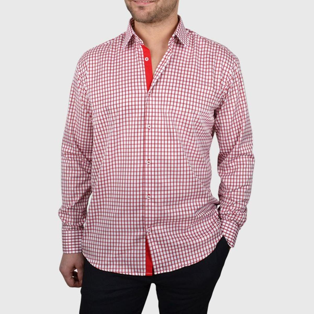 Chemise non cintrée à carreaux