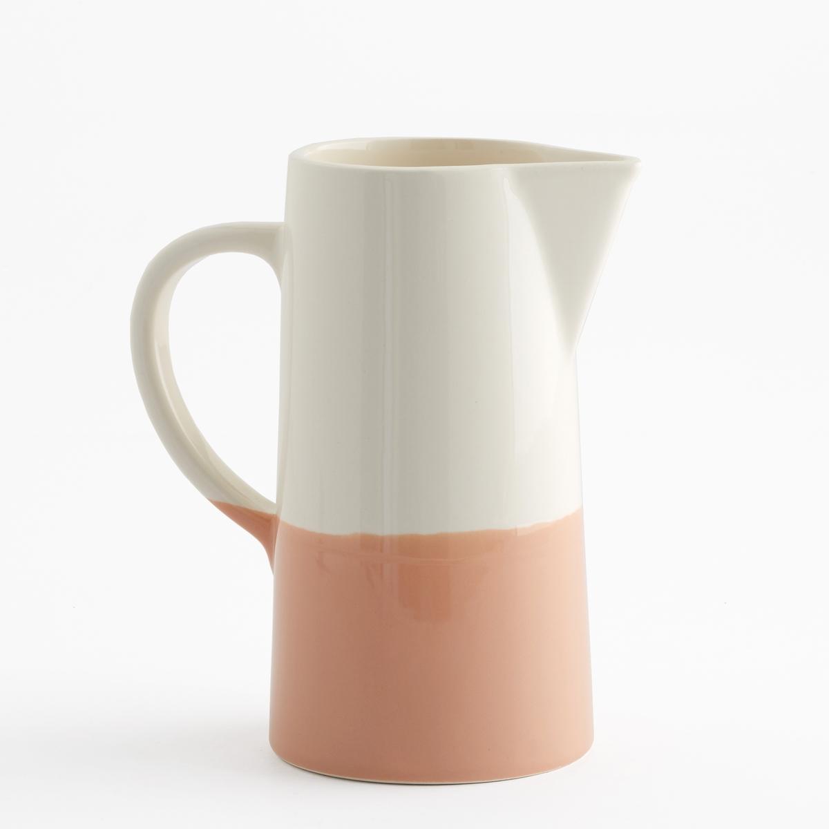 Графин двухцветный из керамики, ZalatoZalato - это изящная форма, большой объем, строгий аутентичный дизайн, расцветка из двух цветов для сочетания с Вашим внутренним интерьером.Характеристики двухцветного графина из керамики Zalato :Керамика.Размеры двухцветного графина из керамики Zalato :Высота : 15,5 см.Диаметр. внизу : 10,5 cм.Диаметр. вверху : 8,5 см.Цвета двухцветного графина из керамики Zalato :Белый / розовый.Белый / синий.Белый / зеленый. Другие графины и предметы декора стола вы можете найти на сайте laredoute.ru<br><br>Цвет: белый + розовый,белый + светло-зеленый,белый/охра<br>Размер: единый размер