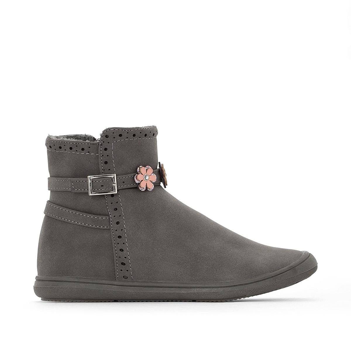 Ботинки с цветами 26-35