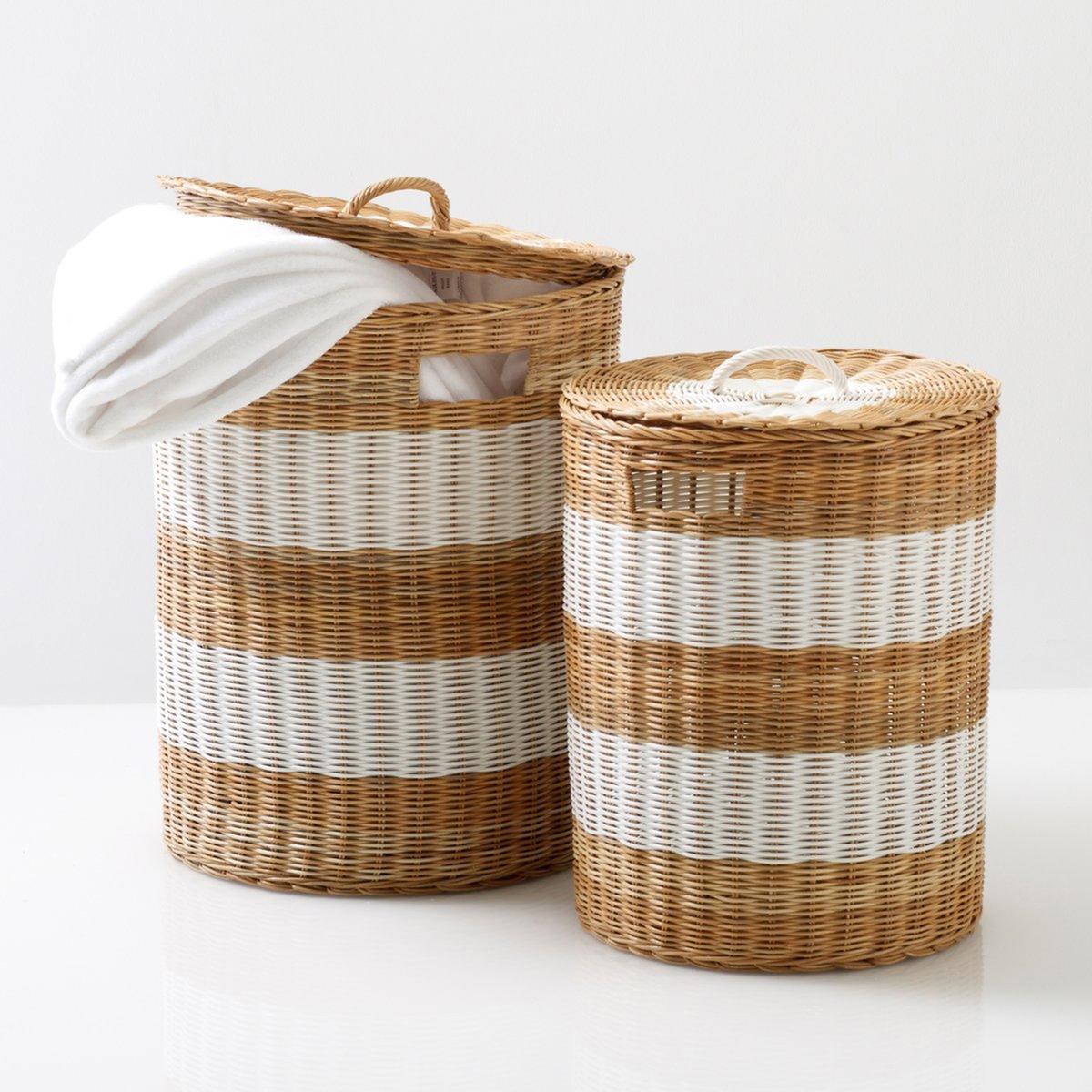 2 корзины из ротанга с крышкой