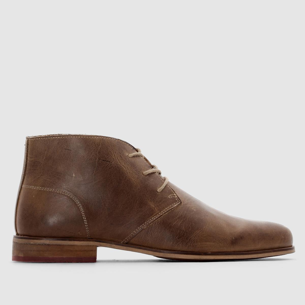 Ботинки-дерби кожаные<br><br>Цвет: темно-бежевый,черный<br>Размер: 49.50.43.48