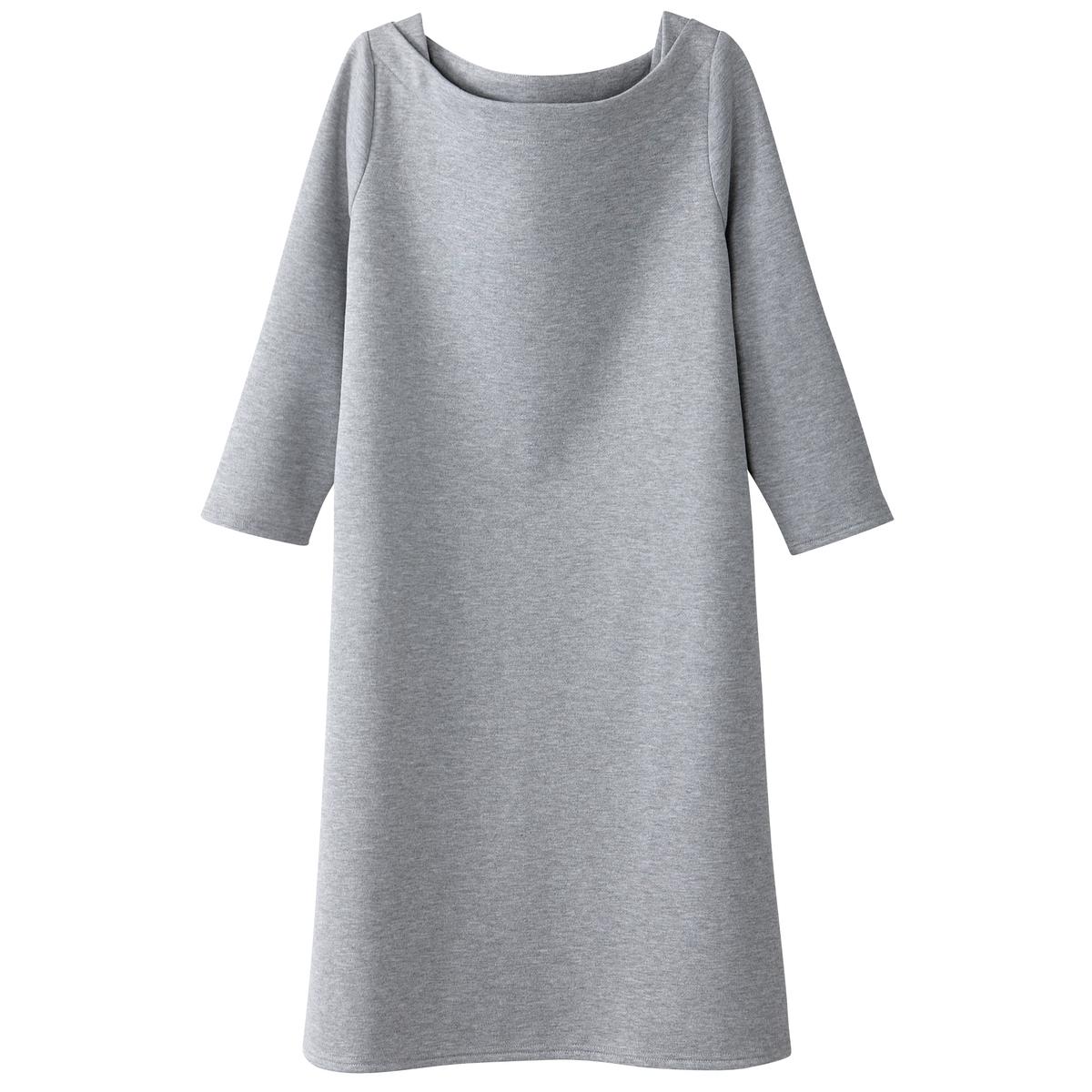 Платье-свитшот расклешенное, воротник-лодочка