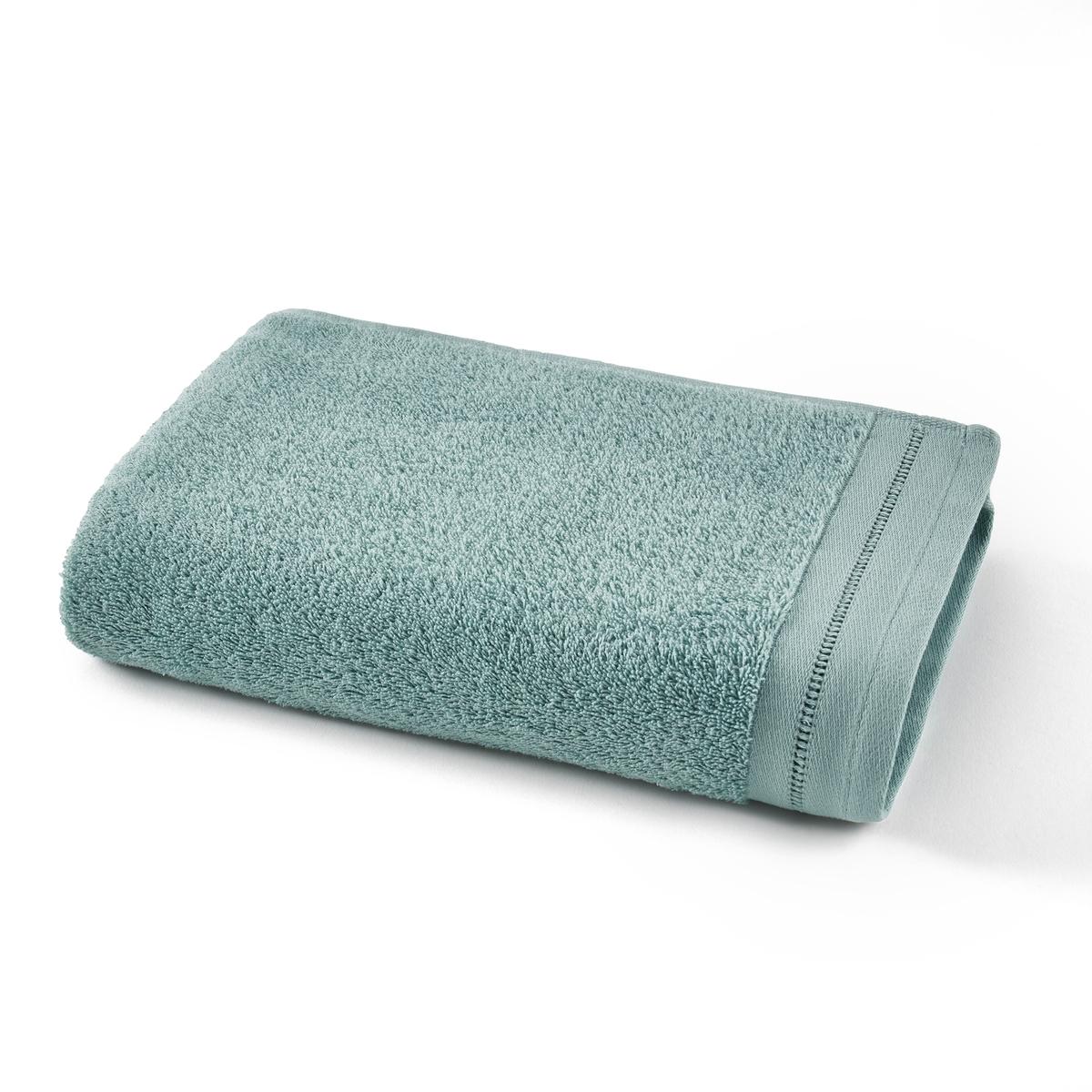 Полотенце La Redoute Для рук махровое с мережкой Secret 50 x 100 см зеленый комплект из полотенце для la redoute рук из хлопка и льна nipaly 50 x 100 см белый