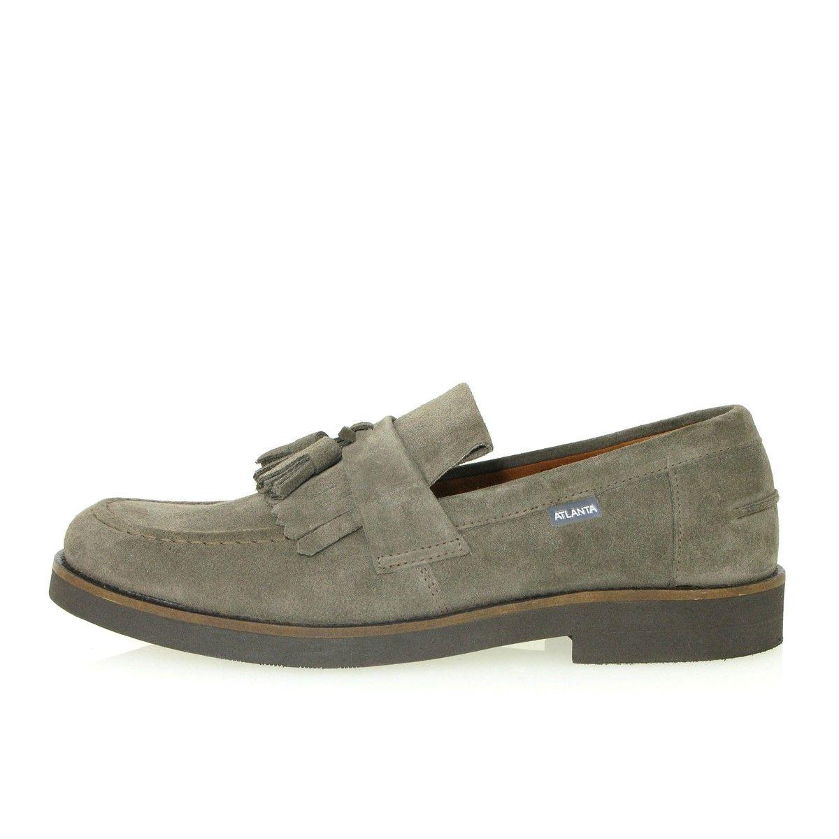 Chaussures mocassins gland en daim